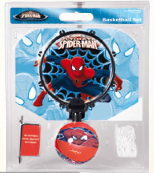 Spiderman Soft Basket Set mit Softball